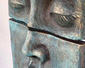 Mare, Wall Sculpture, Handmade, Wall Art,  Figure, Ancient Design, Mythology, Ozan Varel, Museum Quality, Sculpture, Art, Antique Mask