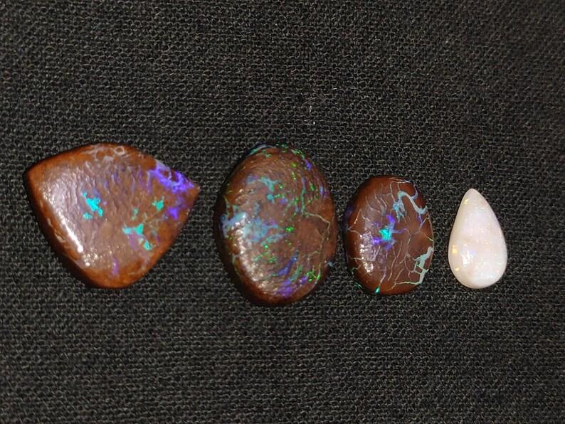 Natural fire boulder opal cabochon wholesale natural fire lot