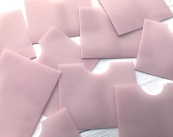 Pink 4x3 inch pack of five bags Printed vellum flat bags