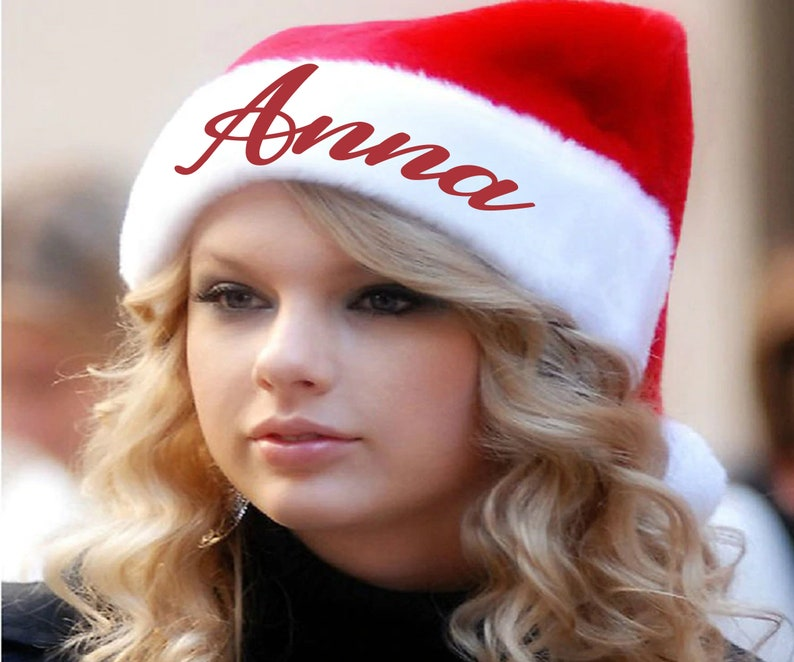 Custom printed santa hat Adult Santa Hat X-Mas Party Hat Kids Santa Hat Customized hat Christmas Hat Personalized Hat Christmas Party