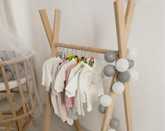 Mini clothing rack,childrens clothing rack, wooden dress rack,nursery decor