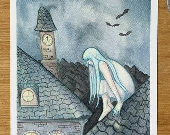 Do You Hear the Banshee? - print   Original watercolor painting print   art gift
