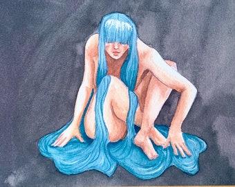 Unbound - print   Original watercolor painting print   art gift