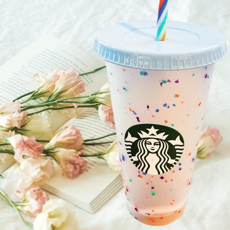 Coffee Cup Pride Flag Colours Custom Starbucks Cold /& Hot Coffee Cup tumbler Namer Personalised Custom Cup Starbucks.