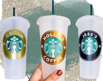 Starbucks Cold Cup with Straw & Custom Ring Around Logo for Autumn2021 Starbucks Cups Starbucks Cups With Name Options Starbucks Tumbler UK