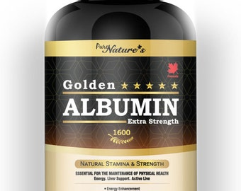 PNC] Golden Albumin Extra Strength Natural Stamina & Strength Contains Superior Ingredients - 200 Caps - Healthcare Supplemet -