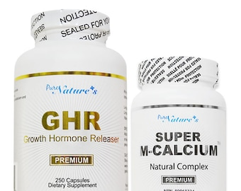 PNC] GHR and Super M Calcium Growth Combo Helps Growing and Bone Health Various Calcium, Vitamin  - Bone Supplement - Calcium Supplement -