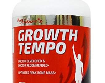 PNC] Growth Tempo - Health Supplements - 120 caps - Optimizes Peak Bone Mass + Containing various growth hormone ingredients