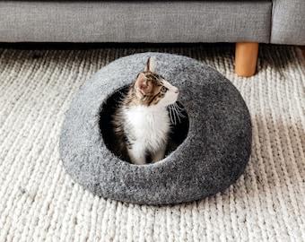 Organic Wool Felt Cat Caves