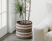 Versailles Woven Planter Basket- Bohemian Wicker Indoor Plants Basket, Woven Home Decor, Seagrass Basket