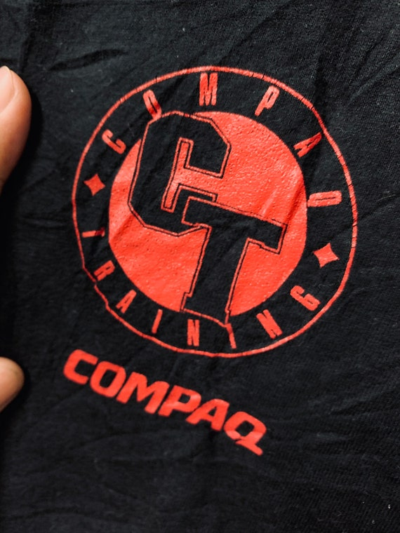 Vintage90s Compaq Logo /Pop Art /T-shirt/Xl 24""