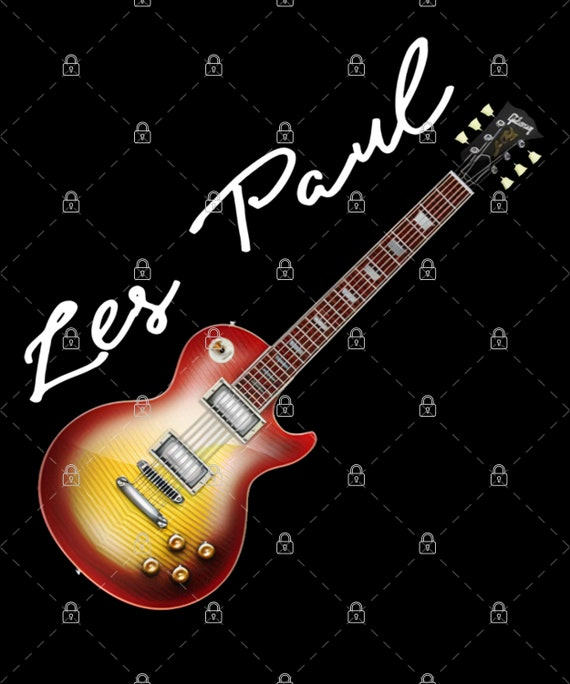 Les Paul Gibson Guitar PNG For Print, Digital download, Sublimation