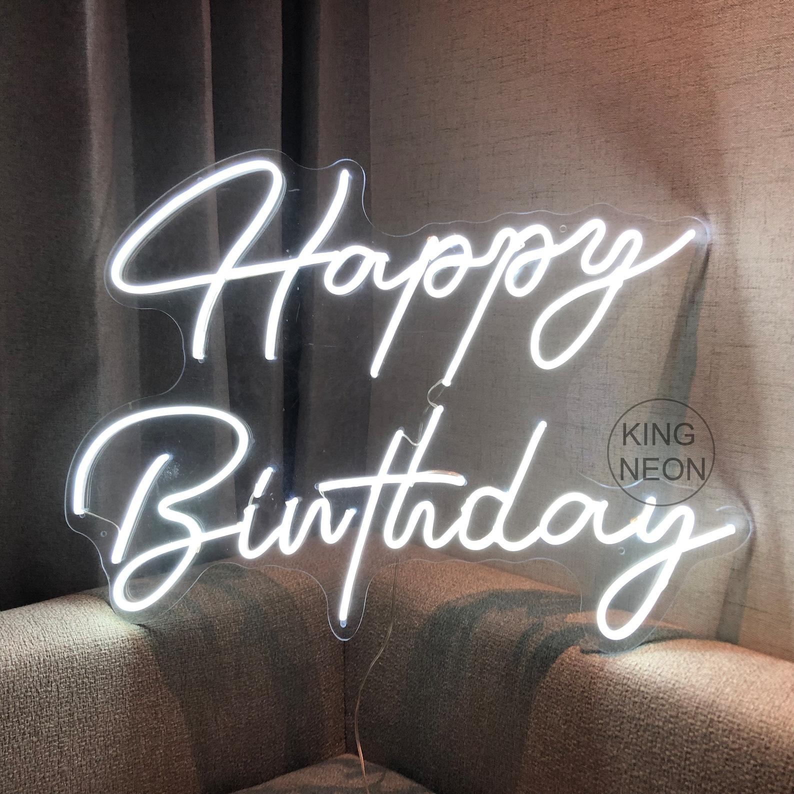 Happy Birthday Neon Signs