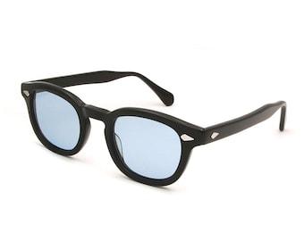 Johnny Depp Sunglasses Tart Arnel Style 44 or 47 Black Blue Lenses