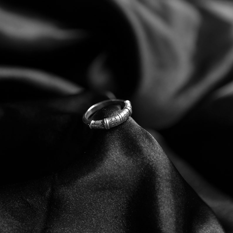 Silver Men/'s Ring 925 Ethnic Style