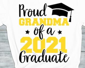 esp dxf Silhouette Cut file Proud Grandma svg Graduation Hat Clipart Proud Grandma of a Graduate svg Grandma graduate svg Cricut