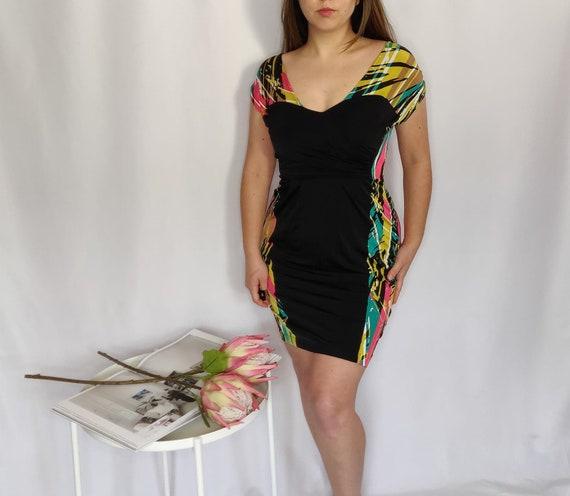 90s BCBG Cowl Neck Dress