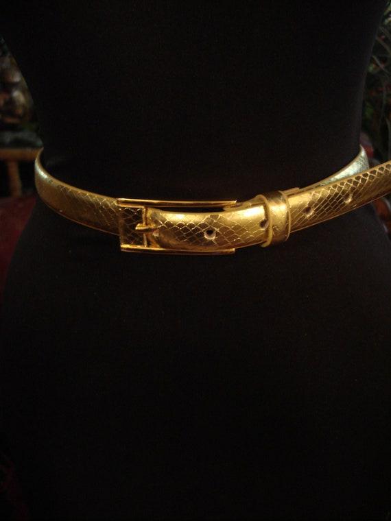 SKINNY GOLD LEATHER Belt - image 1