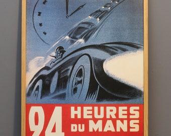 Vintage poster 24 Hour Le Mans