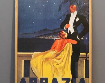 Vintage poster Abbazia, Italy 1930