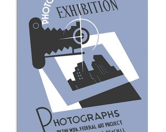 Vintage poster Photography Exhibition 1930s