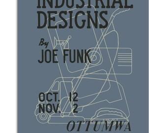 Vintage poster Industrial Designs 1930s