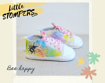 Hand painted  baby gift Dope Shoes Brithday gift Prewalker, First shoes New Baby Sneakers