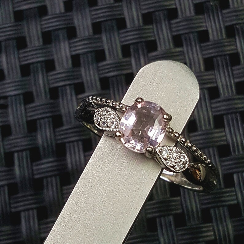 Natural Morganite Jewelry High Quality Natural Pink Morganite Ring S925 Sterling Silver Natural Morganite Ring Gem Grade