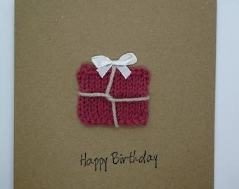 Handmade Greetings Card - Present