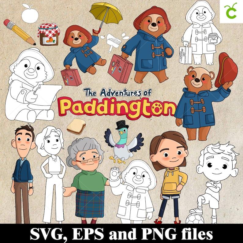 paddington bear svg bundle The Adventures of Paddington paddington bear for cricut clip art paddington bear paddington bear png