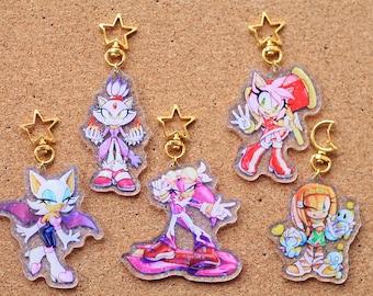 Sonic Girls acrylic charms   2nd Edition   acrylic keychains