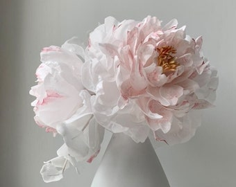 Wafer paper blush pink Peony for cake decoration