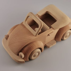 Personalized Toddler Toy Montessori Wooden Toy Car Whale Push Car