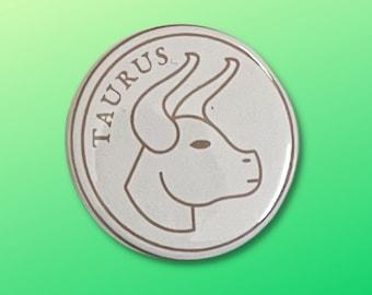 "Taurus Zodiac Sign Pinback Button (1.5"")"
