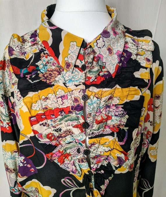 Kenzo silk blouse - crazy beautiful!
