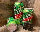 Mountain Dew Soy Candle - Hand Poured Mountain Dew Soda Can Candle - Custom Scented Soda Pop Candle