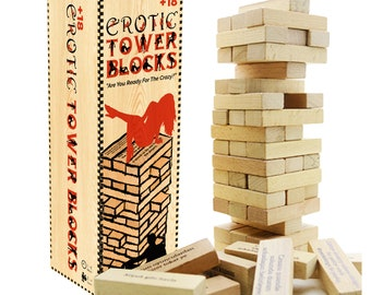 Sexy Christmas Gift! - Dirty Sexy Couples Erotic Party Game - Perfect Adult SexToy for Naughty Couples! Like Jenga Erotic Tower Balance Game