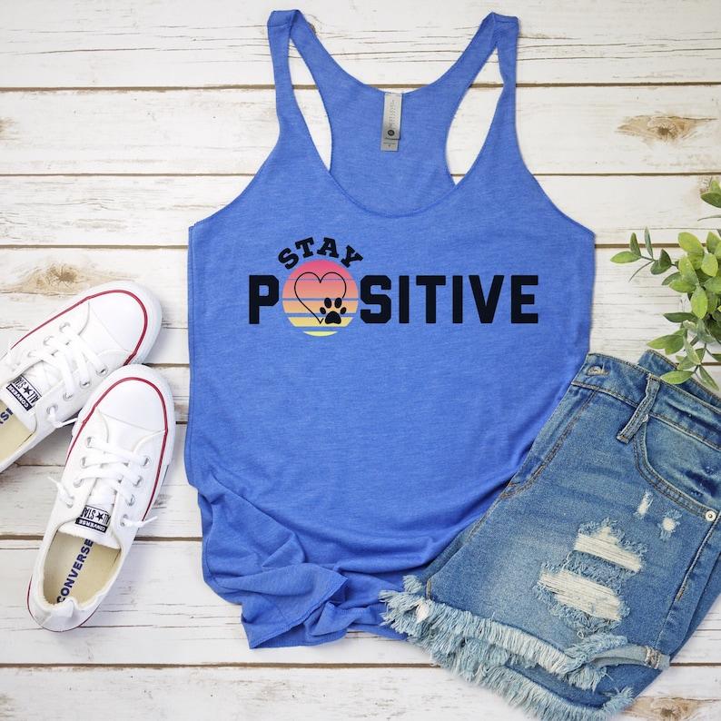 Workout Clothes Fitness Shirt Workout Shirt Women Workout Tanks For Women Racerback Gym Tank Stay Positive Workout Shirts Workout Tank