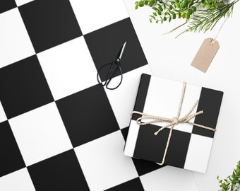 Wrapping Paper, Checkerboard Print, Wrapping Paper Retro, Gift Paper, Gift Wrap, Birthday Wrapping Paper