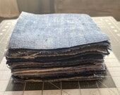 precut Denim squares size 5X5 inches (50 count)