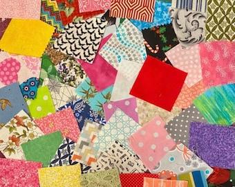 250 precut 2.5 inch fabric squares