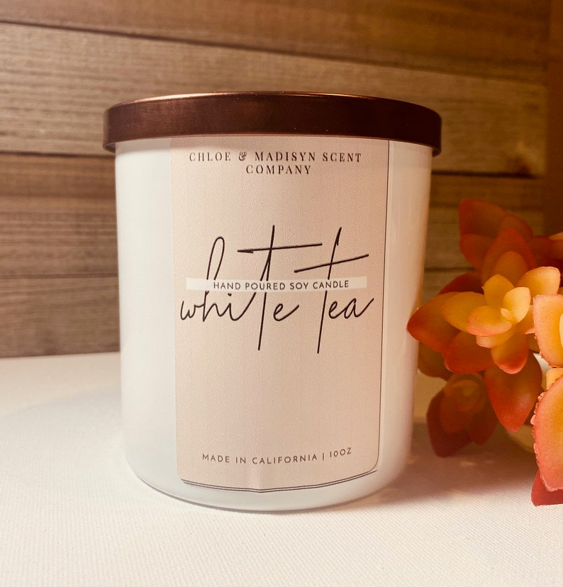Handmade Natural White Tea Scented Candle Free Shipping Aromatherapy spa and Relaxation Candle Non toxic Organic Essential Oil Candle