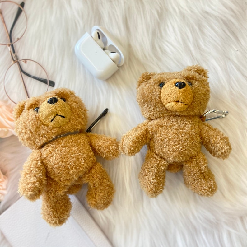 apple airpods pro case airpods case cover Cute bear AirPods case Teddy bear airpod case airpods pro 3D Protective Silicone Case Cover