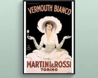 Isolabella Vermouth Bianco vintage wine ad poster repro 16x24