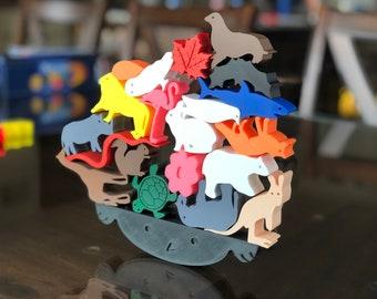 Wildlife Wobble - Balancing Game - Family Games