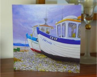 Gift Card - Fishing boats on beach