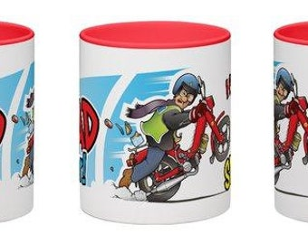 Best Dad ever mug - great gift for a motorcycle mad father