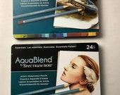 AquaBlend Watercolour Pencils - Spectrum Noir - Artist's Quality Watercolor Pencils - 24 Pencils Each Set - Your Choice of Sets