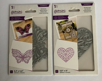 Elements Decorative Outline Topper Dies - Gemini - Crafter's Companion - Papercraft Metal Cutting Dies - Large 1 piece each - Your Choice