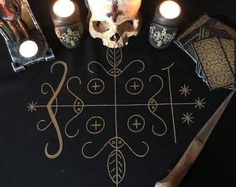 Papa Legba cloth Voodoo symbol Ritual cloth